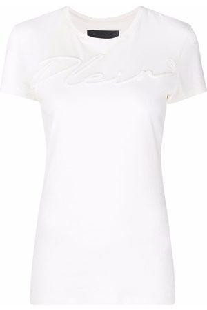 Philipp Plein Mujer Tops - Camiseta con logo bordado
