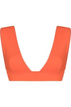 ALEXANDRA MIRO Top de bikini Ally con cuello en V