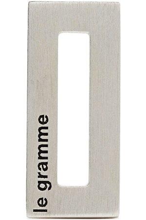 Le Gramme Colgante rectangular con logo grabado