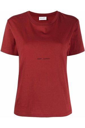 Saint Laurent Camiseta con logo estampado