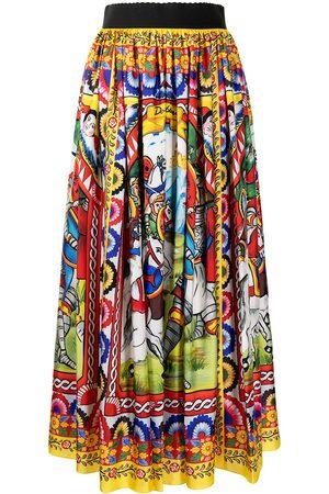 Dolce & Gabbana Mujer Estampadas - Falda midi con estampado Carretto