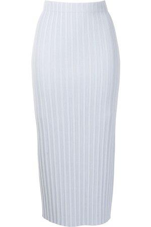 PROENZA SCHOULER WHITE LABEL Mujer De tubo - Falda midi de punto de canalé