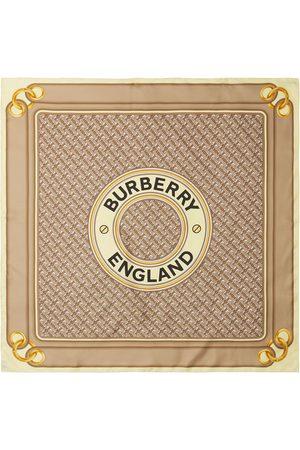 Burberry Pañuelo con estampado de montaje