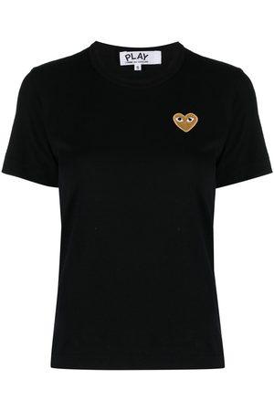 Comme des Garçons Mujer Tops - Camiseta con bordado de corazón