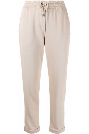 Brunello Cucinelli Cropped leg track pants