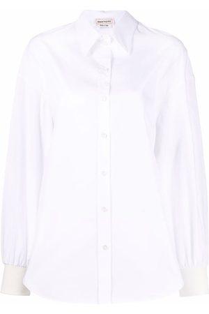 Alexander McQueen Camisa con botones de manga larga