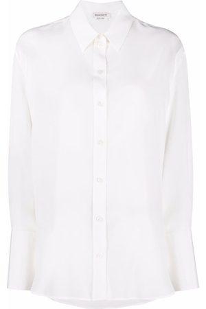 Alexander McQueen Mujer Manga larga - Long-sleeve silk shirt