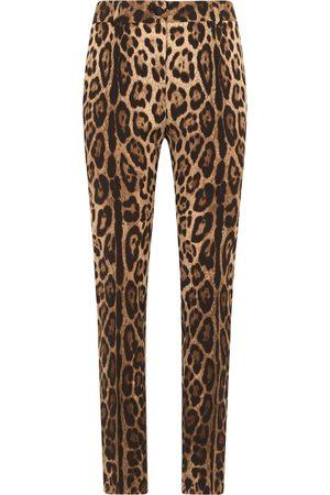 Dolce & Gabbana Mujer Pantalones de vestir - Pantalones con motivo de leopardo