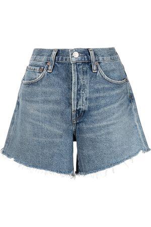 AGOLDE Pantalones vaqueros cortos con efecto envejecido