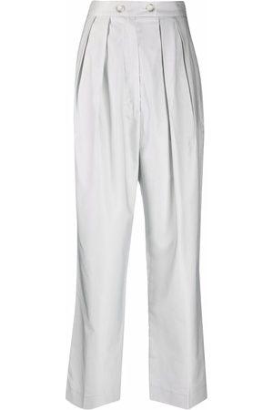 12 STOREEZ Mujer Pantalones acampanados - Pantalones con cintura con pliegues