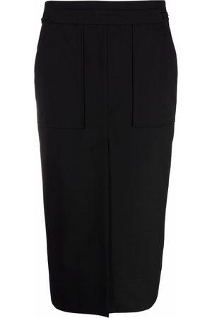 12 STOREEZ Mujer De tubo - Falda midi con abertura en el frente
