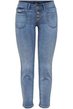 ONLY ONLEBBA AL TOBILLO CON BOTÓN JEANS STRAIGHT FIT