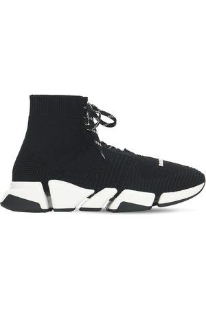 Balenciaga | Hombre Sneakers Speed 2.0 De Punto Con Cordones /blanco 40