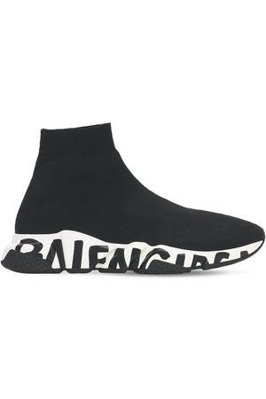 "Balenciaga | Mujer Sneakers ""speed Graffiti"" De Punto 30mm /blanco 34"