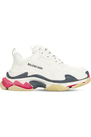 "Balenciaga | Mujer Sneakers ""triple S"" De Piel Sintética 60mm /negro/rojo 35"