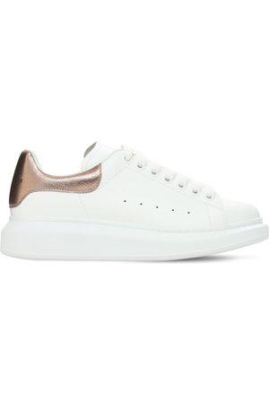 Alexander McQueen | Mujer Sneakers De Piel Y Piel Metalizada 45mm /oro Rosa 35