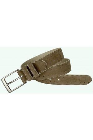 Leyva Cinturón Cinturón de piel Nobuck, de hombre para hombre