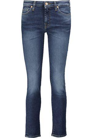 7 for all Mankind Jeans skinny Pyper de tiro medio cropped