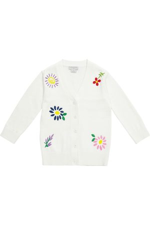 Stella McCartney Niña Chaqueta de punto - Cárdigan de algodón y lana floral