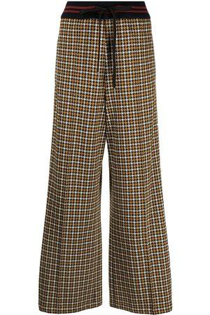 Marni Mujer Pantalones de vestir - Pantalones anchos con motivo pied de poule
