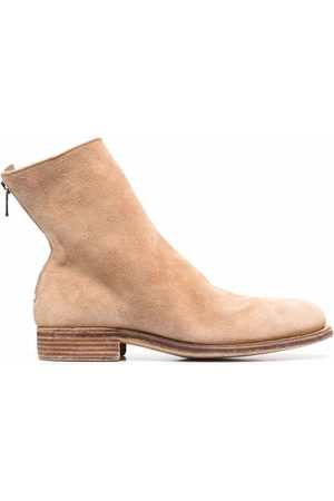 Guidi Hombre Botines - Crinkled-effect ankle suede boots