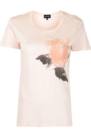 Emporio Armani Camiseta con motivo de rosas
