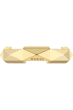 Gucci 18kt yellow gold Link to Love studded ring