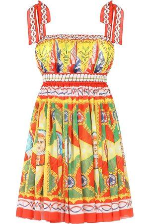 Dolce & Gabbana Mujer Estampados - Vestido plisado con estampado gráfico