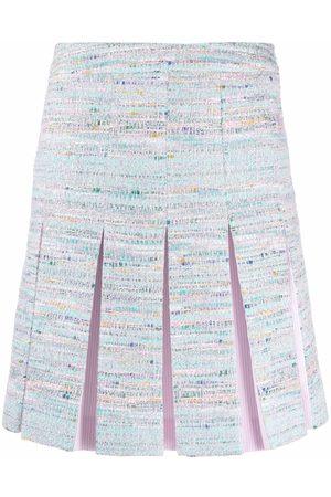 Karl Lagerfeld Mujer Plisadas - Falda de tweed plisada