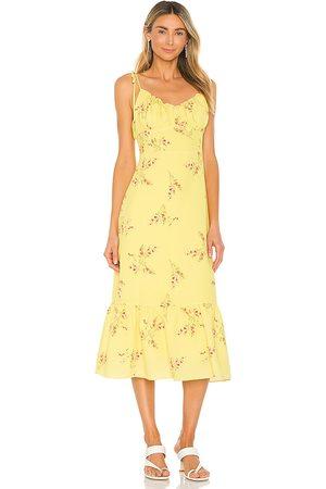 Line & Dot Mujer Casual - Vestido hailey en color amarillo talla L en - Yellow. Talla L (también en XS, S, M).