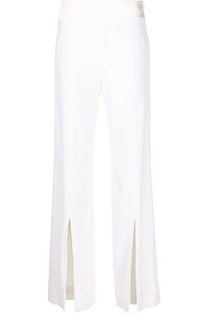 Jonathan Simkhai Mujer Pantalones y Leggings - Pantalones rectos de crepé
