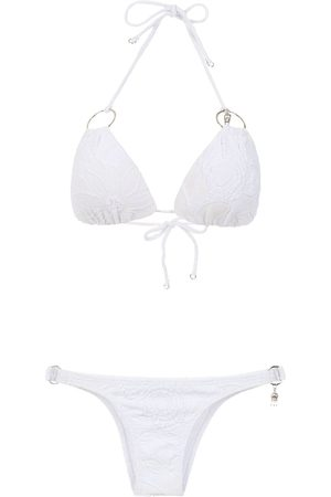 AMIR SLAMA Bikini con detalles metalizados