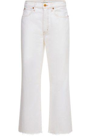 "SLVRLAKE   Mujer Jeans Anchos Cropped ""grace"" Con Cintura Alta 24"