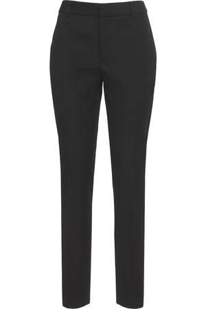 SAINT LAURENT | Mujer Pantalones Rectos De Esmoquin De Lana 34