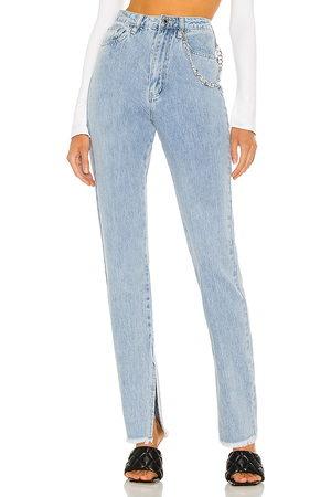 WeWoreWhat Slit hem jean en color azul talla 24 en - Blue. Talla 24 (también en 26, 25, 27, 28, 29).