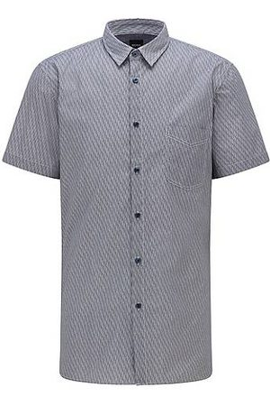 HUGO BOSS Camisa slim fit de algodón elástico con estampado