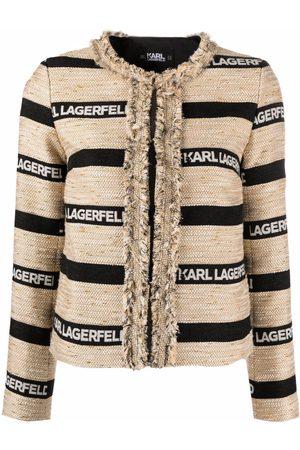 Karl Lagerfeld Chaqueta con logo estampado