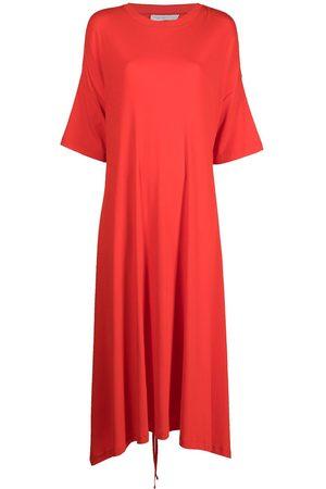 ROSETTA GETTY Short-sleeve apron-front dress