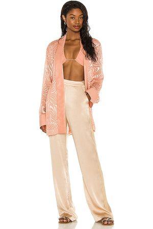 Tell Your Friends Mujer Abrigos largos - Kimono en color rose talla L en - Rose. Talla L (también en S, XXS, XS, M, XL).
