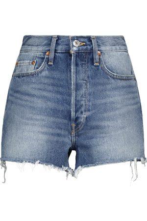 RE/DONE Shorts 70s de jeans de tiro alto
