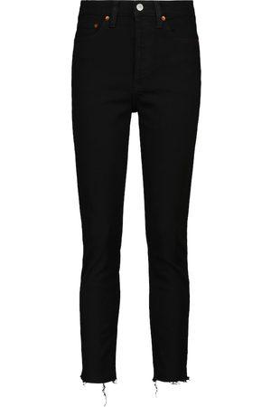 RE/DONE Jeans skinny cropped de tiro alto