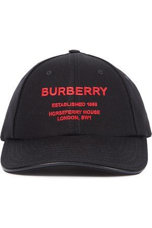Burberry Gorra de lona de algodón con logo
