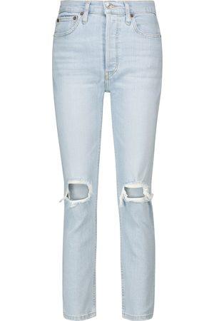 RE/DONE Jeans 90s de tiro alto cropped