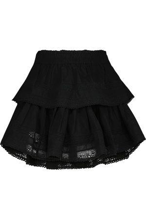 LOVESHACKFANCY Minifalda Ruffle de algodón