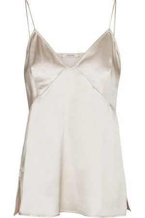 Dorothee Schumacher Top lencero Sense Of Shine de seda elástica
