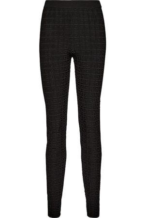 Givenchy Mujer Leggings y treggings - Leggings de tiro medio con logo