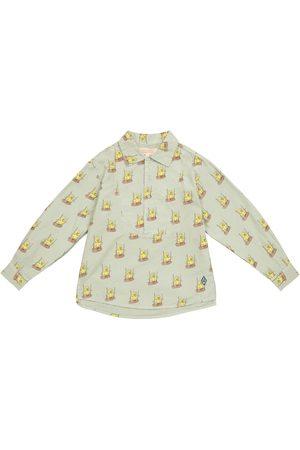 The Animals Observatory Niña Camisas - Camisa Mandrill de algodón