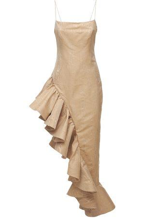 GIUSEPPE DI MORABITO Mujer Largos - | Mujer Vestido Largo De Jacquard Con Volantes 36