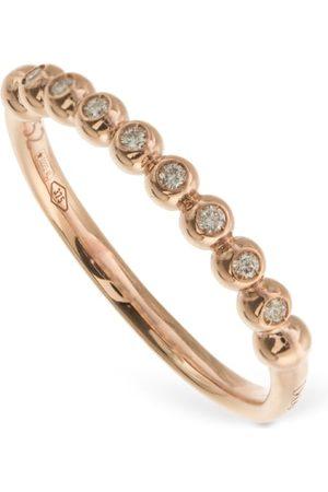 Dodo | Mujer Anillo Bollicine De Oro Rosa Con Diamante 9kt /crystal 50