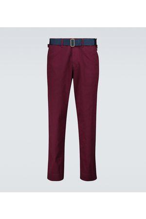 UNDERCOVER Pantalones de algodón con detalle de ante